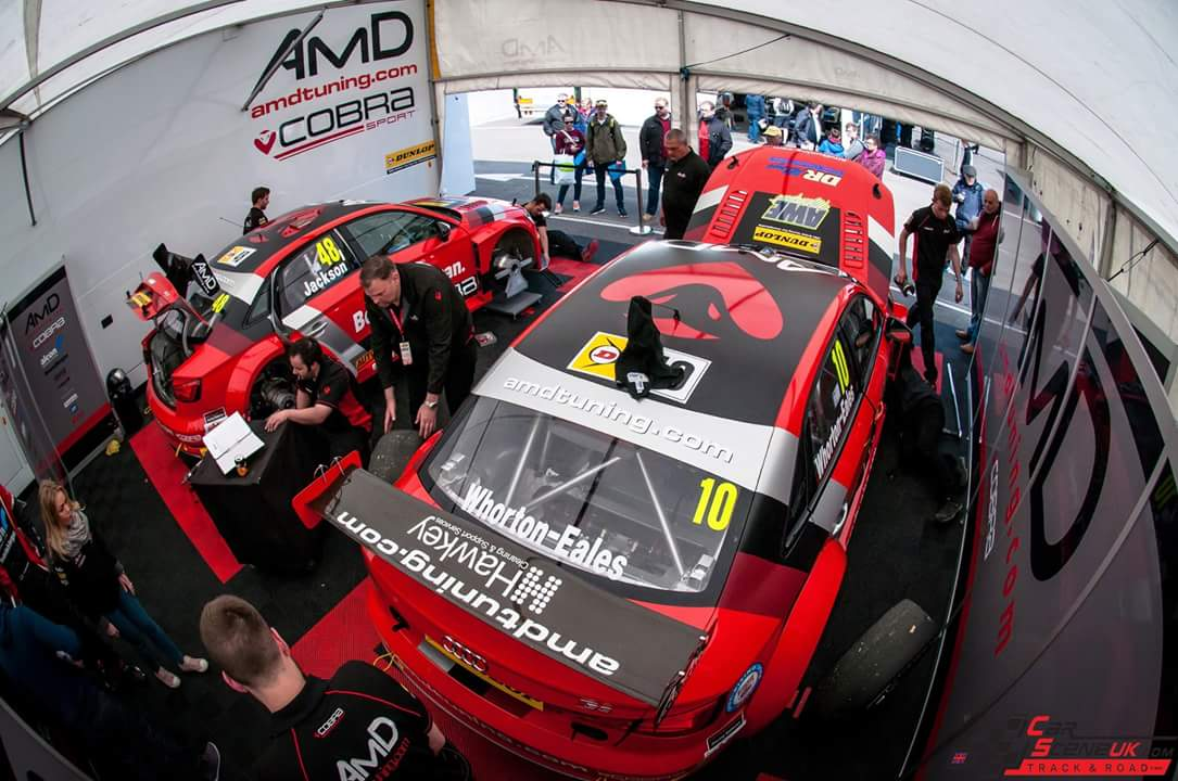 Hawkey supports the AmD Performance BTCC Team