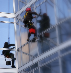 Canada Water and the Hawkey Cleaning & Support Services Abseiling Team